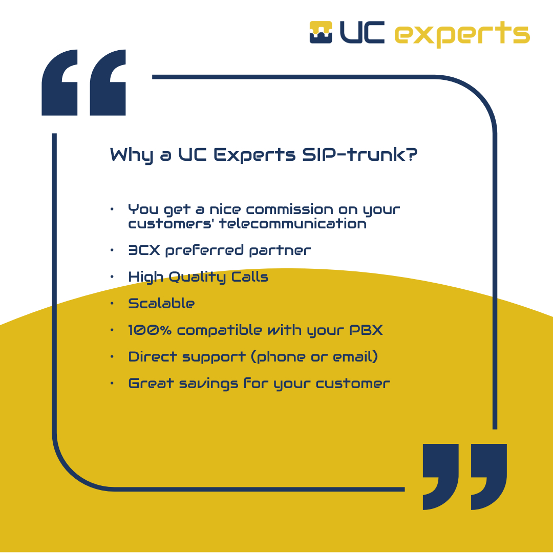 Why a UC Experts SIP Trunk?