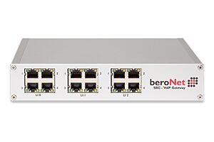 Up to 128 channels modular VoIP SBC with 3 free slots for Modules (BNMO-XX), 12 RJ45 slots, Dual NIC, 2 sessions free, max. 64 concurrent sessions