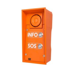 2N® IP Safety - 2 buttons & 10W speaker, INFO/SOS labels