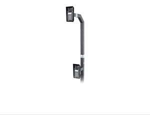 2N® IP Force and Safety - Gooseneck stand double, 108cm / 42ʺ and 192cm / 75ʺ