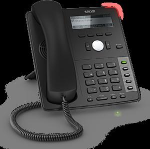 Snom Global D712 Desk Telephone Black